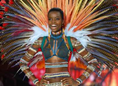 Model Maria Borges displays a creation during the Victoria's Secret Fashion Show inside the Grand Palais, in Paris, Wednesday, Nov. 30, 2016. The pulse-quickening, celebrity-filled catwalk event of the year : the Victoria's Secret fashion show takes place in Paris with performances from Lady Gaga and Bruno Mars. (AP Photo/Francois Mori)