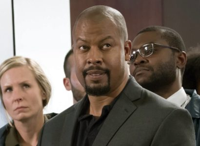 """In this image released by Fox, Morocco Omari appears in a scene from """"Empire.""""  Omari was arrested Wednesday, April 5, 2017,  on a misdemeanor domestic battery charge in Chicago. In a news release, police say 46-year-old Morocco Omari was arrested Wednesday after officers were called to the Hyde Park neighborhood on Chicago's South Side by a 24-year-old woman who identified herself as Omari's girlfriend. (Chuck Hodes/FOX via AP)"""