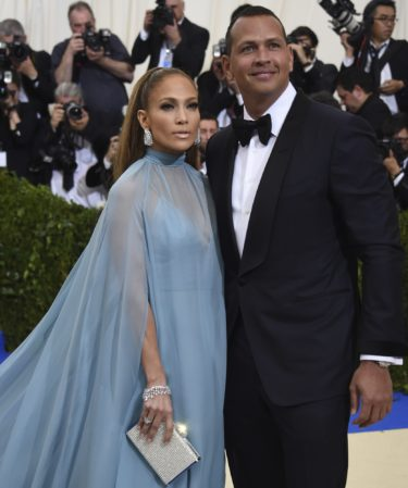 Jennifer Lopez, left, and Alex Rodriguez attend The Metropolitan Museum of Art's Costume Institute benefit gala celebrating the opening of the Rei Kawakubo/Comme des Garçons: Art of the In-Between exhibition on Monday, May 1, 2017, in New York. (Photo by Evan Agostini/Invision/AP)