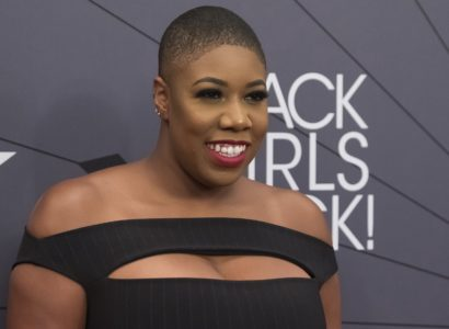 Symone Sanders attends the Black Girls Rock! Awards at New Jersey Performing Arts Center on Sunday, Aug. 26, 2018, in Newark, N.J. (Photo by Charles Sykes/Invision/AP)