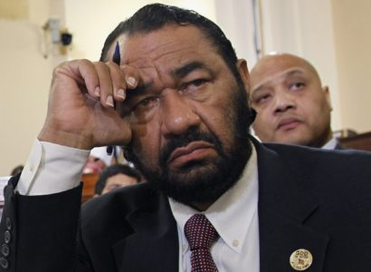 FILE - In this March 10, 2011 file photo, Rep. Al Green, D-Texas, listens during a hearing on Capitol Hill in Washington. Minorities _ Hispanics, women, blacks, Asians _ stand as the majority among House Democrats, giving them considerable clout in pushing for the most massive rewrite of the nation's immigration laws in a generation.  As the immigration fight shifted to the House, rank-and-file Democrats delivered a simple message to their party leader on Friday: If Republicans who call the shots make good on their promise to bring up single-issue legislation, we'll only go along if it gets us to negotiations with the Senate.  (AP Photo/Alex Brandon, File)